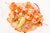 Japanese kebab with shrimps — Stock Photo