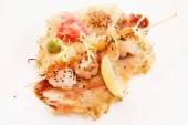 Japanese seafood kebab — Stock Photo