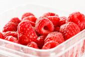 Fresh red raspberries — Stock Photo