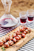 Stuffed dates with bacon — Foto de Stock