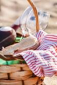 Picnic on the beach on the beach — Stock Photo