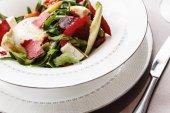 Beetroot salad on plate — Stock Photo