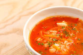 Tomato soup with carrots — Stock Photo