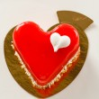 Cake in shape of heart — Stock Photo #72210205