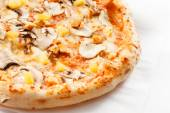 Pizza with mushrooms and pineapple — Stock Photo