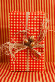 Red Christmas present — Stock Photo