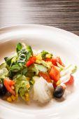 Vegetable salad on plate — Stock Photo