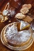 Autumn cake and cookies — Stock Photo