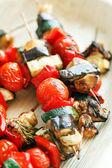Grilled vegetables on sticks — Stock Photo