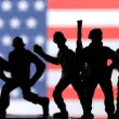 American soldiers silhouettes — Stock Photo #73505683
