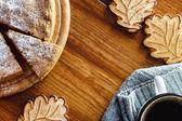 Autumn cake and coffee — Stock Photo