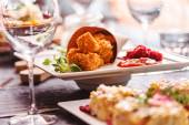 Tasty catering food appetizer — Stock Photo