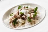 Mushroom soup in bowl — Stock Photo