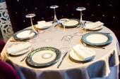 Conjunto de banquete en restaurante — Foto de Stock