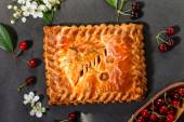 Tasty cherry pie — Stock Photo
