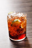 Tasty cocktail in glass — Stock Photo