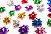 Holiday background with bows — Stock Photo