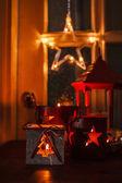 Christmas glowing decorations — Stock Photo