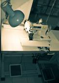 The overstitching machine — Стоковое фото