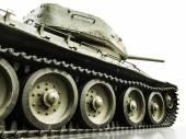 Tank T-34, isolated closeup — Stock Photo