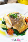 Healthy fish meal — Stock Photo