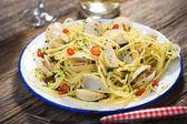 Vongole spaghetti aux palourdes — Photo