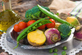 Homemade organic vegetables — Stock Photo