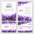 Templates set with sparkling violet circles — Stock Vector #52514973
