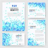 Templates set with blue triangle elements — Stock Vector