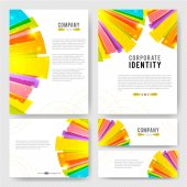 Templates set with colorful design elements — Stockvektor