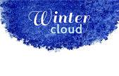 Blue winter cloud. — Stockvektor