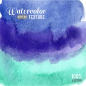 Turquoise watercolor texture. — Vector de stock