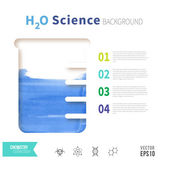 Chemistry science concept — Stock Vector