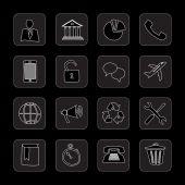 Hand drawn flat icons — Vecteur