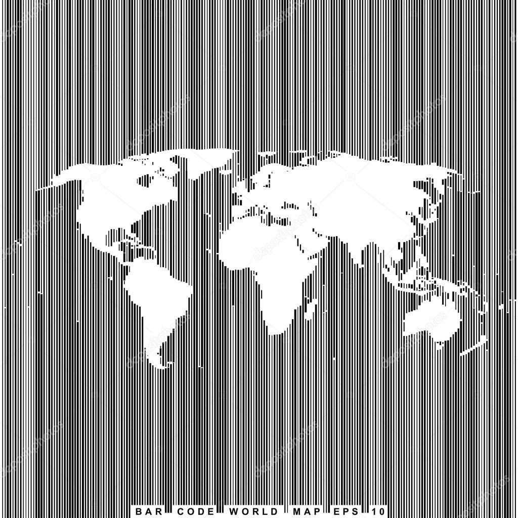 条码线世界地图 — 图库矢量图像08