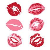 Lipstick kiss print — ストックベクタ