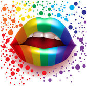 Rainbow lips — Stock Vector