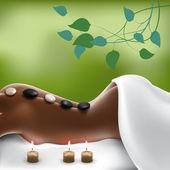 Spa Stone Massage — Stock Vector