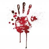 Bloody handprint — Stock Vector