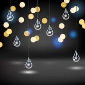 Light Bulb Background — Stock Vector