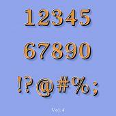Retro stil alfabetet — Stockvektor