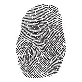 Dashed Line Fingerprint — Stock Vector