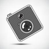 Hipster Retro Photo Camera — Stock Vector