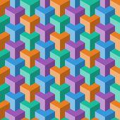 抽象的多维数据集模式 — 图库矢量图片