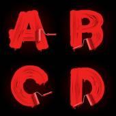 Roller brush font — Stock Vector