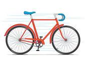 Red City Bicycle — Vetor de Stock