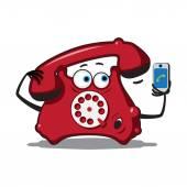 старый и новый телефон — Cтоковый вектор