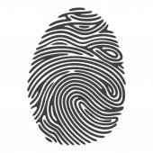 Fingerabdruck — Stockvektor