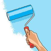 Rouleau brosse à main — Vecteur