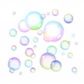 Color Soap bubbles — Stock Vector